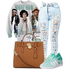 •everything up like it's post to be• by jadeessxo on Polyvore featuring polyvore, fashion, style, adidas, Michael Kors, Blue Nile and FOSSIL