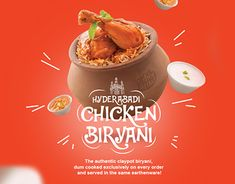 Oh My Biryani on Behance Food Graphic Design, Food Poster Design, Food Menu Design, Creative Poster Design, Ads Creative, Food Packaging Design, Food Promotion, Hotel Food, Food Banner