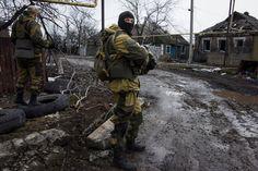 Dirty war in Ukraine : separatists fighters during winter 2015.