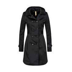 Schwarz 38 Mantel stretch limo 1390 Bellybutton Damen Jacke Umstands Mantel ARLENE Gr