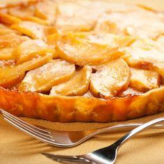 Tarte aux pommes et au caramel fondant