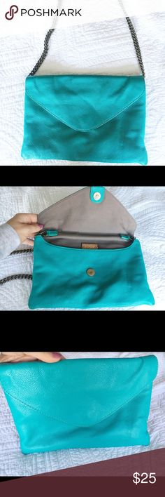 J Crew leather purse I love this adorable purse from J Crew! Near perfect condition. Adorable turquoise color. J. Crew Bags Shoulder Bags
