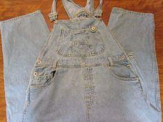 VTG Good Fellows Lace Up Back Front Pocket Bib Denim Overalls Jeans Sz 13/14 #GoodFellows #Overalls