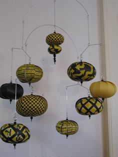 Items similar to Construction mobile black yellow caution arrows Fun for your son on Etsy Mobile Art, Hanging Mobile, Hanging Art, Diy And Crafts, Paper Crafts, Creation Deco, Japanese Prints, Beads And Wire, Wire Art