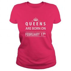 Cool Born February 17 Queen Shirts TShirt Hoodie Shirt VNeck Shirt Sweat Shirt for womens and Men Shirts & Tees