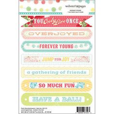 "Party Time Stickers 4""x6"" Sentiments 