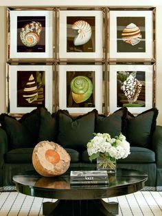 Great way to get a large scale artwork, perhaps less expensively as well…k.. frame and hang a grouping edge to edge.