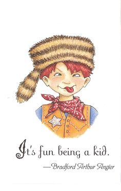 Fun Being A Kid Racoon Hat Sheriff Badge Red Scarf  Mary Engelbreit Art