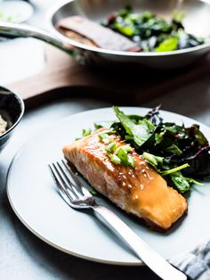 Miso Maple Glazed Salmon Brings A Taste Of Sweet And Savory To The Table In 15 Minutes Or Less. Via Kitchconfidante Salmon Recipes, Fish Recipes, Seafood Recipes, Healthy Recipes, Drink Recipes, Healthy Food, Recipies, Seafood Dishes, Fish And Seafood