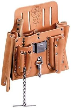 Stainless steel clip holder accepts clips up to in W. Leather Tool Pouches, Leather Tool Belt, Leather Tooling, Leather Wallet, Leather Material, Leather Bags Handmade, Leather Craft, Electrician Tool Pouch, Crea Cuir