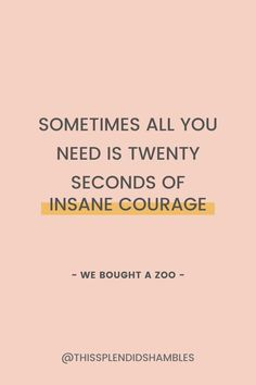 20 seconds isn't a long amount of time in the grand scheme of things.⠀But 20 seconds seems like an age when you're counting, or waiting, or doing something you don't enjoy.Or when you're doing something courageous.Today, whatever you're doing, whatever your situation is, whatever projects you have on the go or are thinking about starting, can I encourage you to take 20 seconds of insane courage? All You Need Is, I Can, Project Yourself, Counting, The Twenties, Something To Do, Waiting, Encouragement, Memes