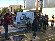 Roadworks 2012 Steamroller Printing Festival
