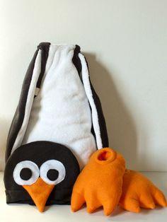 Déguisement De Pingouin + tuto pour les chaussons-pattes