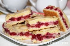 Пирог с малиной Хохотушка, sladkaya vypechka i deserty pirozhki pirogi