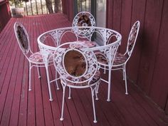 wrought iron set, possibly Meadowcraft