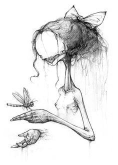 "Alex Pardee ……… reminds me of ""scary stories to tell in the dark "" by alvin schwartz Alex Pardee ……… reminds me of ""scary stories to tell in the dark "" by alvin schwartz Creepy Drawings, Dark Art Drawings, Drawing Sketches, Creepy Sketches, Alex Pardee, Arte Horror, Horror Art, Arte Tim Burton, Pintura Graffiti"