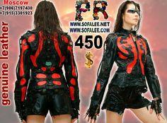 Genuine leather jacket cyberpunk 1