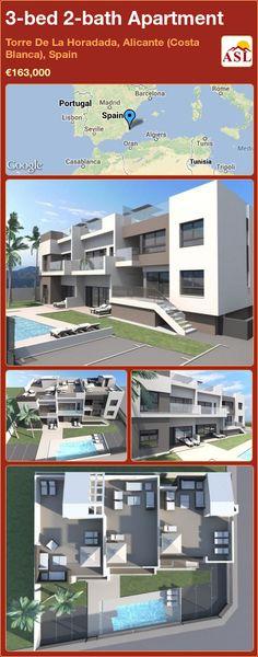 3-bed 2-bath Apartment in Torre De La Horadada, Alicante (Costa Blanca), Spain ►€163,000 #PropertyForSaleInSpain