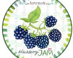 Circle jam label peach jam label printable mason jar by Pinturicon