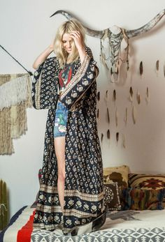 Bohemian Royale Maxi Kimono – Charcoal | Spell Designs www.thefreedomstate.com.au boho | bohemian | gypsy | Spring | Australia | online store