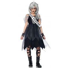 Girls Leg Avenue Zombie Prom Queen Costume - £39.99 #fancydress #halloween #zombie #promqueen