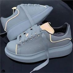 Flat Platform Shoes Woman White Shoes Luminous Sneakers Women Glowing Lace Up Zapatos De Mujer Flat Genuine Leather Women Shoes - Fashion Shoes 2020 Alexander Mcqueen Oversized Sneakers, Alexander Mcqueen Shoes, Sneakers Fashion, Fashion Shoes, Dubai Fashion, Fashion Fashion, Spring Fashion, Womens Fashion, Cute Sneakers
