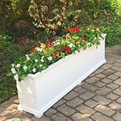 72 Charleston Self Watering Decorative Rectangular Planter
