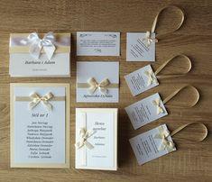 Kolekcja ślubna: zaproszenia ślubne, winietki, zawieszki, menu weselne, wkładki, plany stołów