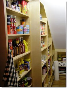 love this for  under the stairs, for my pantry.