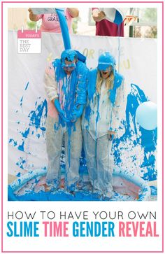 How To Have Your Own Slime Time Gender Reveal - DREAM come true! Such a fun Gender Reveal Party!