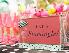 """What is cuter than a flamingo party? A """"Let's Flamingle"""" Party! Get inspired with invites, decor ideas, and sweet treats too! Kate Spade Party, Kate Spade Bridal, Bridal Shower Signs, Bridal Shower Decorations, Bridal Shower Favors, Party Favors, Pink Flamingo Party, Flamingo Birthday, Pink Flamingos"""
