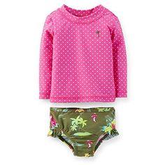 CARTER/'S® Baby 9M Hawaiian Floral 2-Piece Rashguard Swim Set NWT
