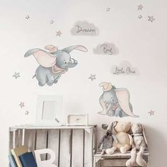 - Disney Dumbo Wall Stickers Best Picture For Disney Home Decor babies nursery For Your Taste Dumbo Nursery, Baby Dumbo, Elephant Nursery, Babies Nursery, Disney Baby Nurseries, Disney Nursery, Baby Disney, Disney Disney, Baby Girl Room Decor