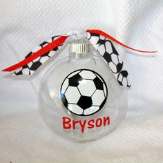 Personalized Soccer Christmas ornaments by KikisKornerSC on Etsy ...