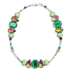 Nicole™ Crafts Emerald and Lime Rhinestone Necklace