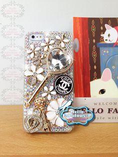 Rhinestone iPhone 5 Case iPhone Case Cover by HELLOFABULOUSP, $24.99