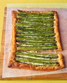 Asparagus Gruyere Tart mmmmm! #MarthaStewart
