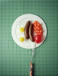 Fry-up in balloons, by photographer David Sykes
