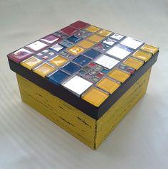 Caixa Decorativa em Mosaico
