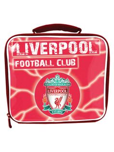 Liverpool FC Lightning Insulated Lunch Bag Insulated lunch bag with the superb Liverpool FC crest design printed on the front