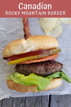 Fire Up The Barbecue And Get Grilling Our Canadian Rocky Mountain Burger For Dinner Tonight. Via Bakersbeans Great Burger Recipes, Grilling Recipes, Beef Recipes, Cooking Recipes, Burger Ideas, Hamburger Recipes, Wrap Recipes, Curry Recipes, Cooking Tips