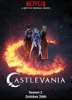 Castlevania Season 2 9 more days to go! Castlevania Dracula, Alucard Castlevania, Castlevania Netflix, Castlevania Lord Of Shadow, Movie Poster Art, New Poster, Top Anime Series, Good Cartoons, Netflix Anime