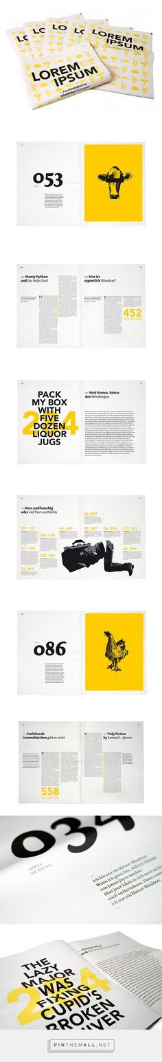 I love this gorgeous magazine layout. Very clean and modern. The colour combination is super eye-catching. Great work.