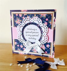 Handmade Birthday card tutorial using the Papermania Simply Floral Collection.