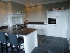 open #keuken in klassieke stijl