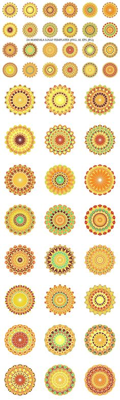 24 mosaic mandala logo template designsPackage contains: - 4 vector SVG - 4 vector AI - 4 vector EPS - 4 JPG file with 6 mandala logo designs. Geometric Mandala, Geometric Graphic, Mandala Design, Mandala Art, Bohemian Art, Bohemian Design, Best Logo Design, Graphic Design, Triangle Logo