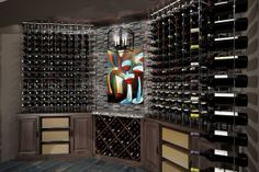Custom Cable Wine System wine cellar with major impact design!