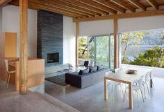 contemporary lodge feel