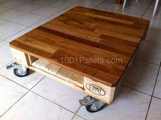 La mignonne table basse demi-palette qui va bien ! :-)