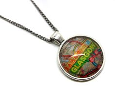 Map necklace - Glasgow @ the shop of interest #katiestainer